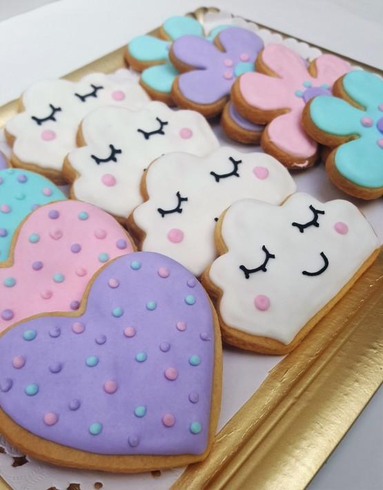cookies nube, corazones y flores (3)