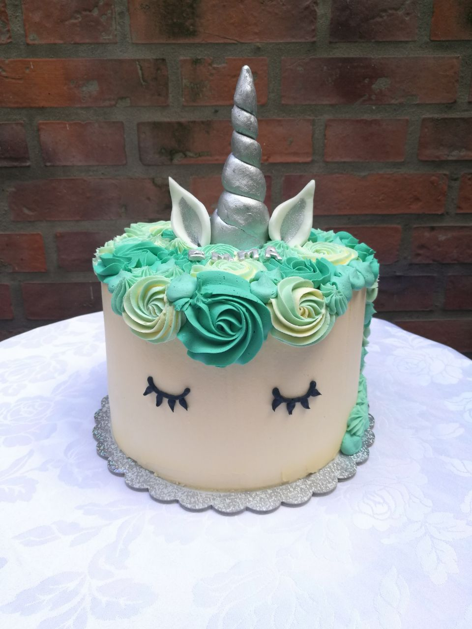 Torta Unicornio Buttercream Myv Pasteler 237 A Casera