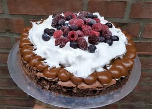 Brownie con frutos rojos (2)