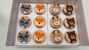 Cupcakes y cookies animales del bosque (1)
