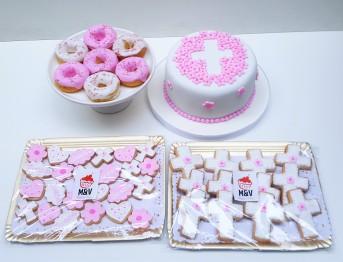 mesa dulce bautismo comunión rosa (10)