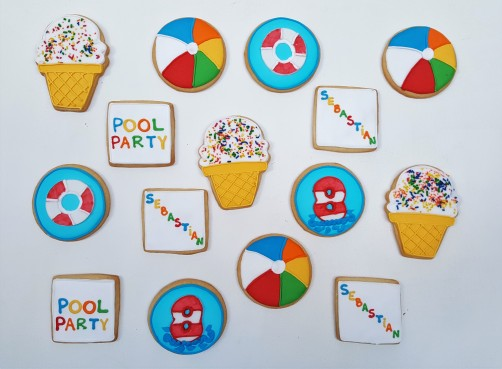 Pool Party cookies (9)