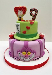 Torta alicia reina de corazones (5)