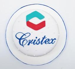 Torta con logo cristex (2)