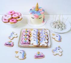 unicornio, torta donas, cookies y cakepops (3)