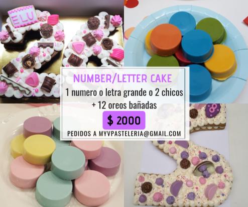 Promo Number-Letter Cake
